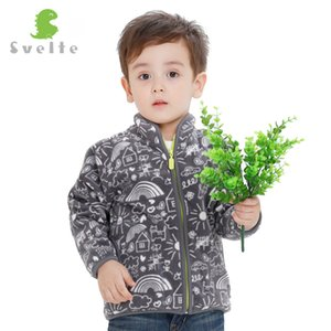 Marca Svelte 2017 Primavera Outono Inverno Crianças Casacos De Pele Quente Meninos Casacos moda Grosso Outerwear Velo Roupas Enfant