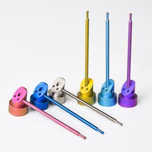Gr2 Titanium Cap Carb con 10mm14mm18mm 3IN1 Colorful Gr2 titanio dab rig accessori per fumatori accessorio spedizione gratuita