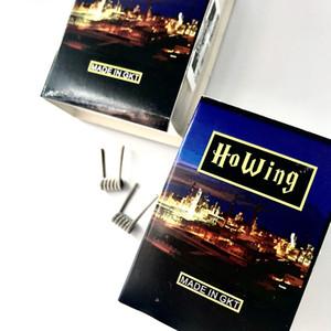 Howing vape coil book serie book 5 LED-NI80 bobina tripla premade Confezione da 8 pz con luce a LED all'interno spedizione gratuita