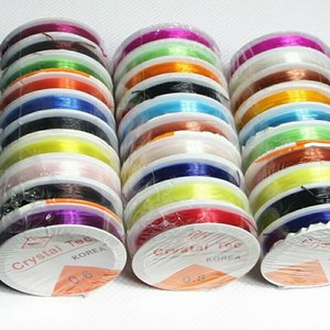 10PCS 다채로운 크리스탈 구슬 스트레칭 탄성 라인 DIY 와이어 쥬얼리 문자열 코드를 만드는 구슬 장식용 DIY 공예 0.8mm