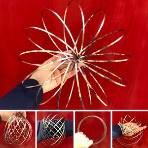 Flow Ring Frühlingsspielzeug Flow Toy Holographic beim Bewegen Erzeugt einen Ring Flow Rainbow Effect Kinetic Toys SOFORT LIEFERBAR