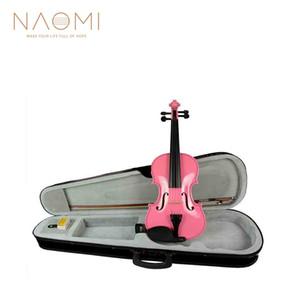 wholesale Student Violin 4 4 3 4 1 2 1 4 1 8 Size Violin Fiddle Black Violin Case, Bow & Rosin Pink Color Full Size Violin Maple