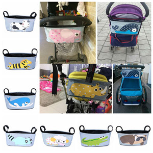 Baby Stroller Bag Diaper Organizer Maternity Mummy Bag Baby Waterproof Folding Nappy Bags With Large Capacity DDA482