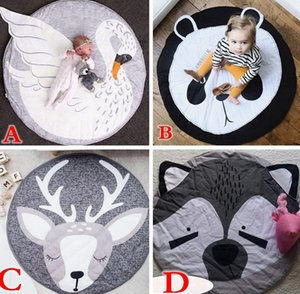 Xmas Easter Elk Deer PAnda Swan Multi-funzione Baby Play Mat Playmat Kids Toy Storage Bag Fondo antiscivolo Portable Carry Playing Mats room