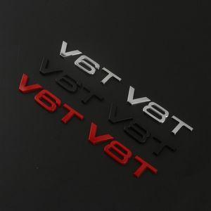 Audi Araba Styling Için takım 3D Metal V6T V8T V6 V8 T W12 W 12 Motor Deplasman Amblem Kuyruk Gövde Çamurluk Rozeti Sticker