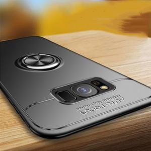 Samsung galaxy s8 artı case s9 için araç tutucu standı manyetik braketi parmak yüzük tpu case samsung s9 artı not 8 s8