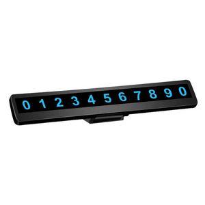 자동차 빛나는 주차 번호 플레이트 전화 번호 주차 번호 플레이트 숨겨진 유니버설 자동차 액세서리 카드 자동 인테리어
