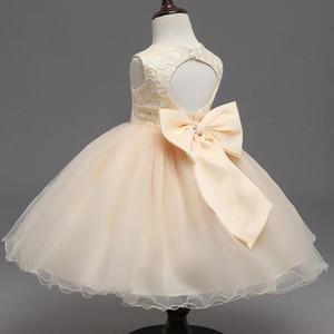 De luxe Bébé filles Princesse robes vêtements filles montrent jupe fille costume de danse enfants fleur filles vêtements robe de bal 3-9Y LF017