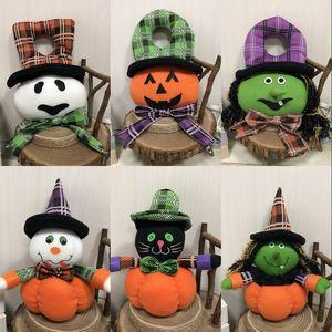 Halloween schreckliche Hexe Kürbis hängende Dekoration Tür Home Ornament Weihnachten Weihnachten Plüsch Puppe Baum hängen Anhänger Dekor Geschenke