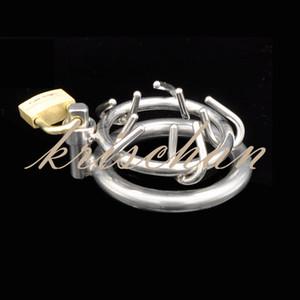 Последний дизайн мужской бондаж из нержавеющей стали Корона шипов петух пенис кольцо клетка пояс верности устройство БДСМ секс-игрушки