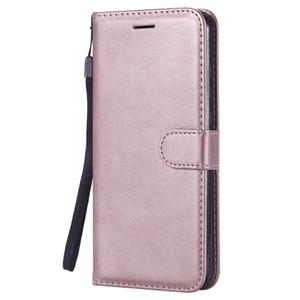 Custodia a Portafoglio per Huawei Honor 8X Flip back Cover Pure Color PU Borse in pelle per telefoni cellulari Coque Fundas