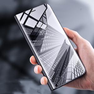 Pour Huawei P20 Pro De Luxe Miroir Flip En Cuir Stand Smart View Case Pour Huawei P20 Lite P 20 Moblie Téléphone Cas Coque