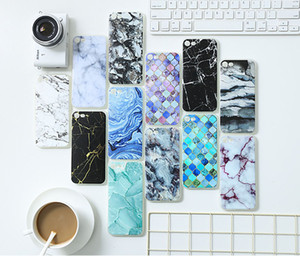 Creative Marble Painted mobile phone Embossed soft shell TPU literature and art