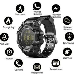 SOVO SG10 بلوتوث ساعة EX16 الذكية ووتش التبليغ عن بعد ساعة اليد مراقبة مقياس الخطو الرياضة ووتش IP67 للماء الرجال في