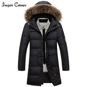 Kostenloser versand 2017 männer winter neue mode lange unten tragen dicke baumwolle gepolsterte jacke mittleren altern und jung warme kleide cxy200