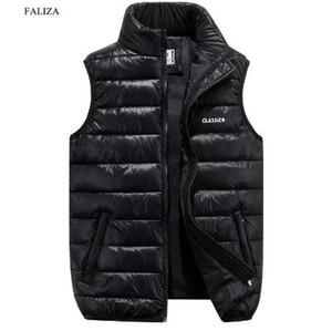 FALIZA Gilet uomo nuovo elegante primavera autunno inverno caldo senza maniche giacca esercito gilet gilet uomo moda casual cappotti 6XL MJ-F