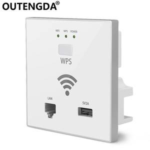 OUTENGDA 300 Mbps in Wall AP WiFi Access Point Wireless Point per hotel Wi-Fi Project Support Gestione AC RJ45 USB WPS Encryption