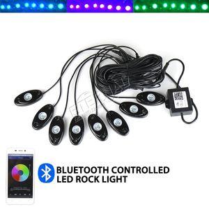 Свободный корабль 8шт RGB Rock Light Мини Дистанционный светодиодный рабочий светильник для 4x4 Off Road ATV UTV SUV RV гольф-кар Грузовик Автомобиль Rock Crawler багги мотоцикл