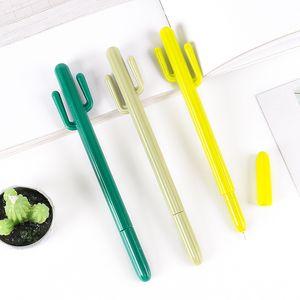 Creative Small Fresh Desert Cactus Styling Pen Corea del Sur Papelería Dibujos animados linda gel pluma Premio Estudiante DHL gratis