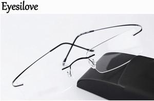 Силуэт сверхлегкий без оправы Оптическая оправа мужчины женщины титановые очки оправа очки черный серебристо-серый золото идут с оригинальным чехлом