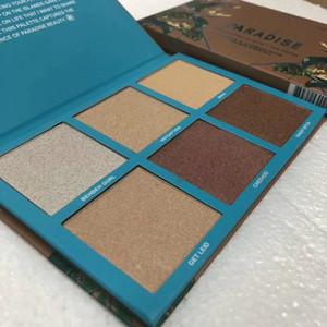 Em estoque Rosto Highlighter 6 cores Palette Babe Em Paraíso Bronzers Highlighters Alta qualidade cosméticos Maquiagem DHL grátis