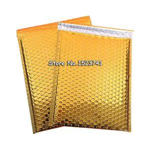 30 unids 18 * 23 cm de Oro Envolvente Bolsas de Mensajero Bolsas de Mensajero A Prueba de agua de Embalaje Burbujeantes Sobres acolchados burbuja sobres bolsa