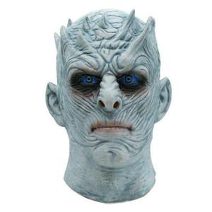 Erwachsene Scary Cosplay Latex Game of Thrones Nacht König Kostüm Party Masken Full Face Overhead Zombie Film Maske Veranstaltungen Requisiten Spielzeug