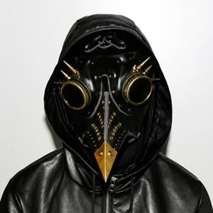 Steampunk Medico della Peste Maschera Faux Leather Uccelli del becco Maschere artistico di Halloween Cosplay Carnaval Props pieno facciale