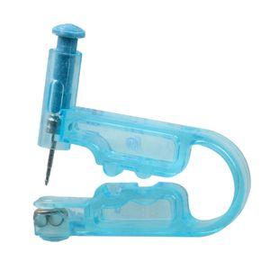Oreja Piercing kit desechable estéril segura la perforación del cuerpo del arma + acero inoxidable Stud + cojín