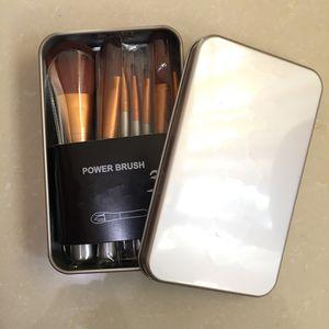 12 PCS Maquillage Pinceaux Marque Poudre Cosmétique Facial Maquillage Pinceau Outils Kit Maquillage Professionnel Pinceaux Set avec Fer Boîte Au Détail