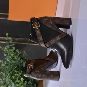2018 haute qualité noir de la mode des femmes chaussures chaussures à talons hauts concepteur épais avec livraison gratuite directe de l'usine