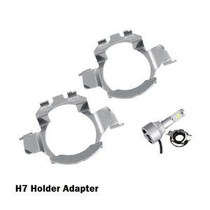 2Pcs H7 Voiture Led Phare Adaptateurs Base Ampoule Titulaires pour BMW E60 E61 pour VW MK6 NISSAN QASHQAI LED lampe pour Audi A3