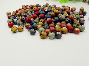 200PCS porcelain beads With Leopard Dot ceramic DIY BRACELET JEWELRY MAKING 8MM 10MM