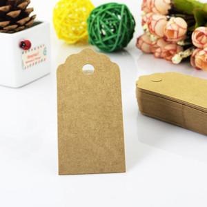 100pcs / lot 4.5 * 9cm étiquettes étiquettes en papier kraft pour les vêtements étiquettes de vêtement pour bricolage jeans sacs chaussures accessoires de couture