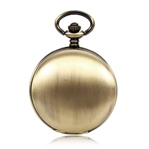 Simple Round Mechanical Mens Pocket Watch Roman Numbers Automatic Self Wind Vintage Antique Analog Pocket Watch w Chain Gift