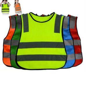 Crianças de Alta Visibilidade Woking Colete de Segurança Colete de Trabalho de Tráfego Rodoviário de Trabalho de Segurança Reflexiva Verde Para Crianças Colete De Segurança Jaqueta