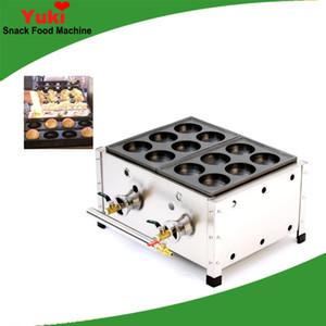 Ticari Çift Plaka Takoyaki Izgara Pan Gaz Bakudanyaki Maker Makinesi Büyük Takoyaki Makinesi Makinesi Snack Ekipmanları