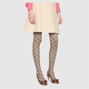 All'inizio dell'autunno lettera piena collant 2019 celebrità Web stesso stile europeo collant maglia alta elastica leggings lunghi
