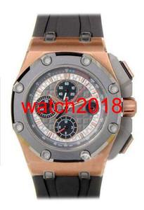 Reloj de pulsera de lujo 0ffshoreMich @ el Schum @ cher Pl @ tN 18K ROSE GOLD 44MM 26568 PM.00.A021CA.01 Reloj de cuarzo para hombre Relojes para hombres de calidad superior