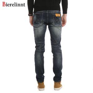 Pantalones largos de mezclilla lavados a la piedra Hombres Jeans, Otoño Invierno 2018 Moda Casual Algodón Jeans Hombres Buena calidad Nueva cremallera Fly