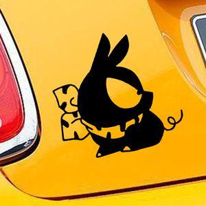 Оптовая piggy свинья манга аниме Jdm виниловые наклейки автомобильные наклейки стекло наклейки царапины наклейки бампер аксессуары