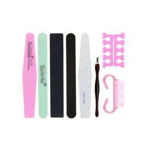 8 Pcs / set Dailer Art File Block Pedicure Manicure Buffing Sanding Polish Makeup Tools Naught Nail Care Kit