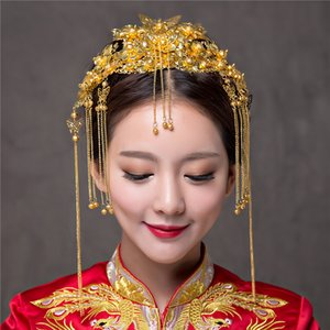 Chino clásico de la boda accesorios para el cabello nupcial del traje del tocado Frontlet Coronet horquillas novias Headbans peines del pelo Combs X912