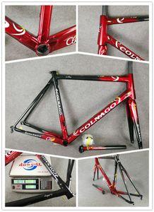 Marco rojo vino Colnago C60 camino del carbón T1000 completa de fibra de carbono bicicleta de carretera bicicleta marco de marcos de carbono BB386 brillante / mate