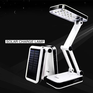 DP Solar Akku AC220 wiederaufladbare faltbare und einstellbare Schreibtischlampen LED Tischlampe mit 24 LED Leselampe
