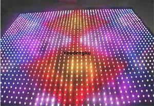 2 * 3M داخلي قماش مقاوم للحريق P18 LED ستارة فيديو للمرحلة الخلفية ضوء RGB القماش