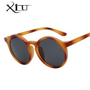 XIU Качество Женский Классический ретро Sunglasse Round Top очки Мода Урожай Женщины солнцезащитные очки UV400 Pecds