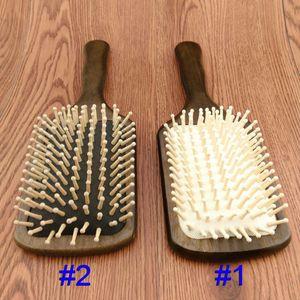 Pettine di legno Paddle Brush Legno Hair Care Spa Massage Pettine antistatico per le donne spedizione gratuita