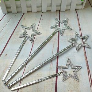 Lasca estrela varinha mágica crianças menina Cosplay fada princesa elf anjo varinhas flâmulas adereços de aniversário saco de festa de natal de enchimento favor 22 cm