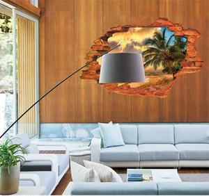 Paisaje Paisaje 3D etiqueta de la pared de la ventana creativa de la etiqueta de PVC blanco como la leche Simulación mural cartel Decoración del hogar Venta 4oy ii